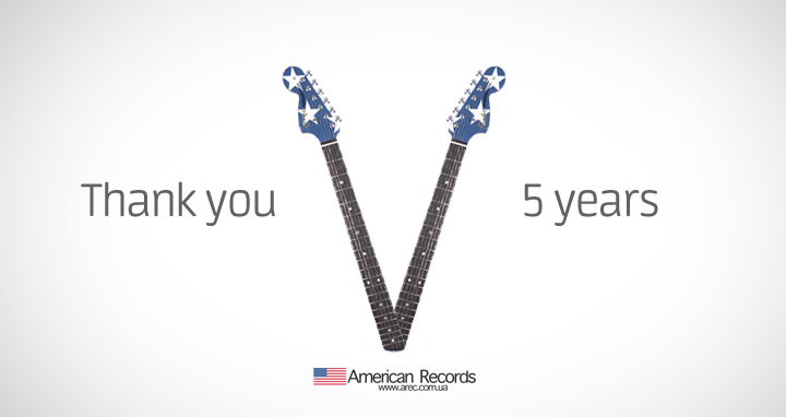 5 years. American Records. Thank you