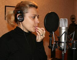 Svetlana Saykovskay recorded vocals for the song